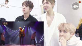 HD1080 Eng Sub BTS (RM JIN JH)react to Jimin dancing with Taemin and Kook singing with 97line idols