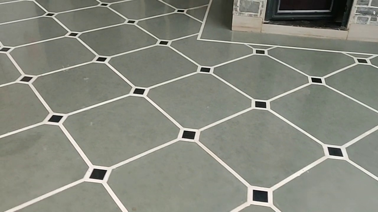 Kota stone Marble flooring and bouder design with polishing - YouTube