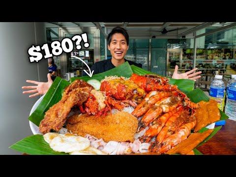 4.5KG LOBSTER NASI LEMAK CHALLENGE! | $180 Nasi Lemak Platter! Singapore Street Food!