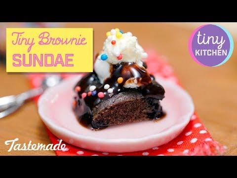 Tiny Brownie Sundae I Tiny Kitchen