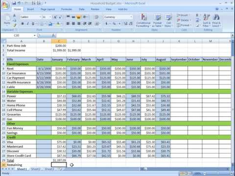 excel 2007 tutorial formulas youtube