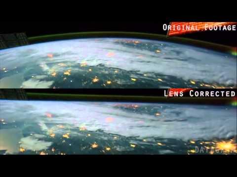 FLAT EARTH - ISS Fisheye Correction - Earth from Space NASA thumbnail