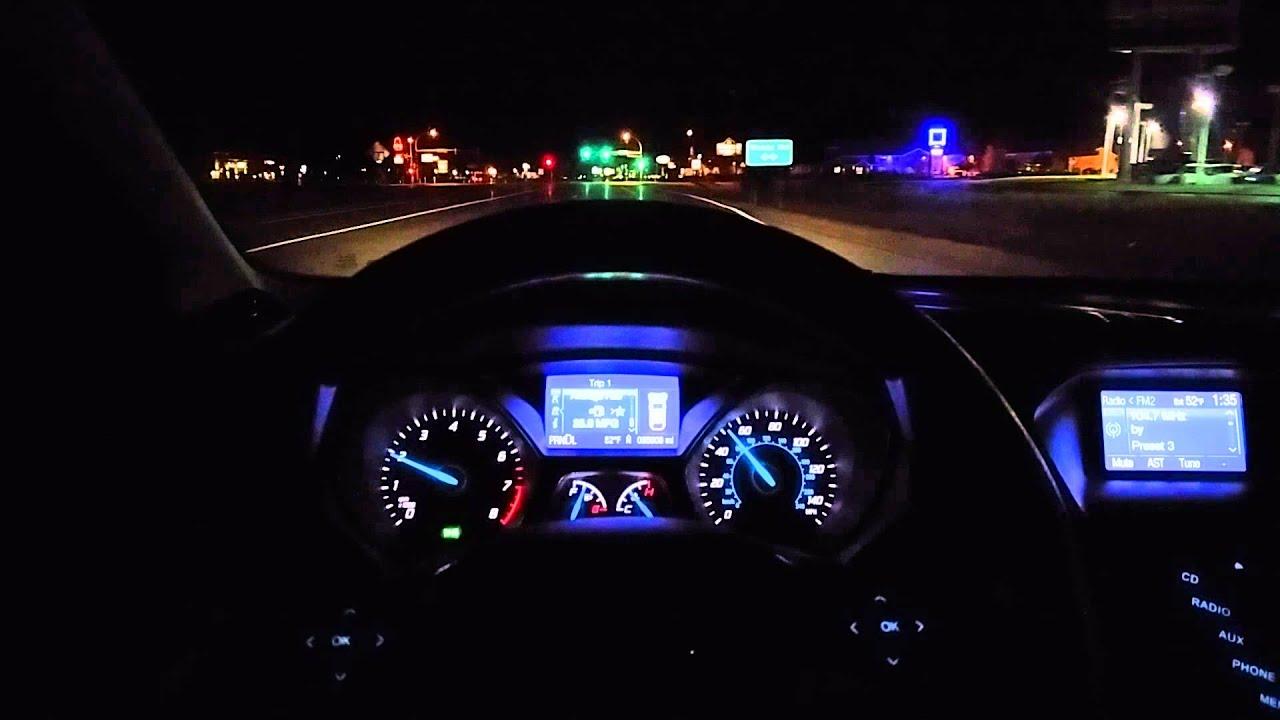 2013 Ford Focus Se Hatchback >> Night drive: 2013 ford focus se hatchback - YouTube