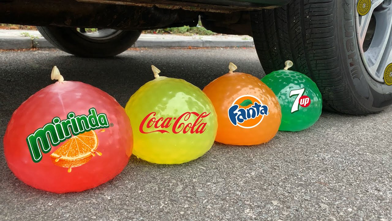 Experiment Coca Cola vs Fanta vs Orbeez vs Mentos | Crushing Crunchy & Soft Things by Car | Test S