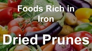 Foods Rich in Iron - Dried Apricots
