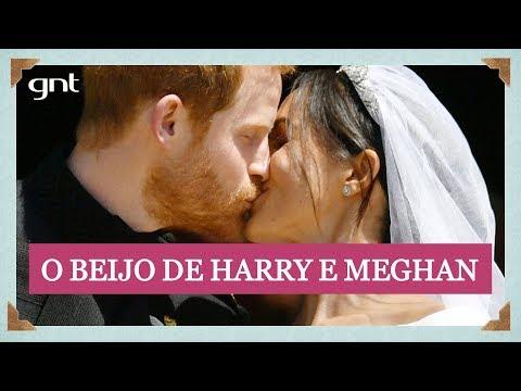 Teve beijo! Meghan e Harry demonstram carinho ao fim da cerimônia | Casamento Real