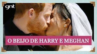 Teve beijo! Meghan e Harry demonstram carinho ao fim da cerimônia   Casamento Real
