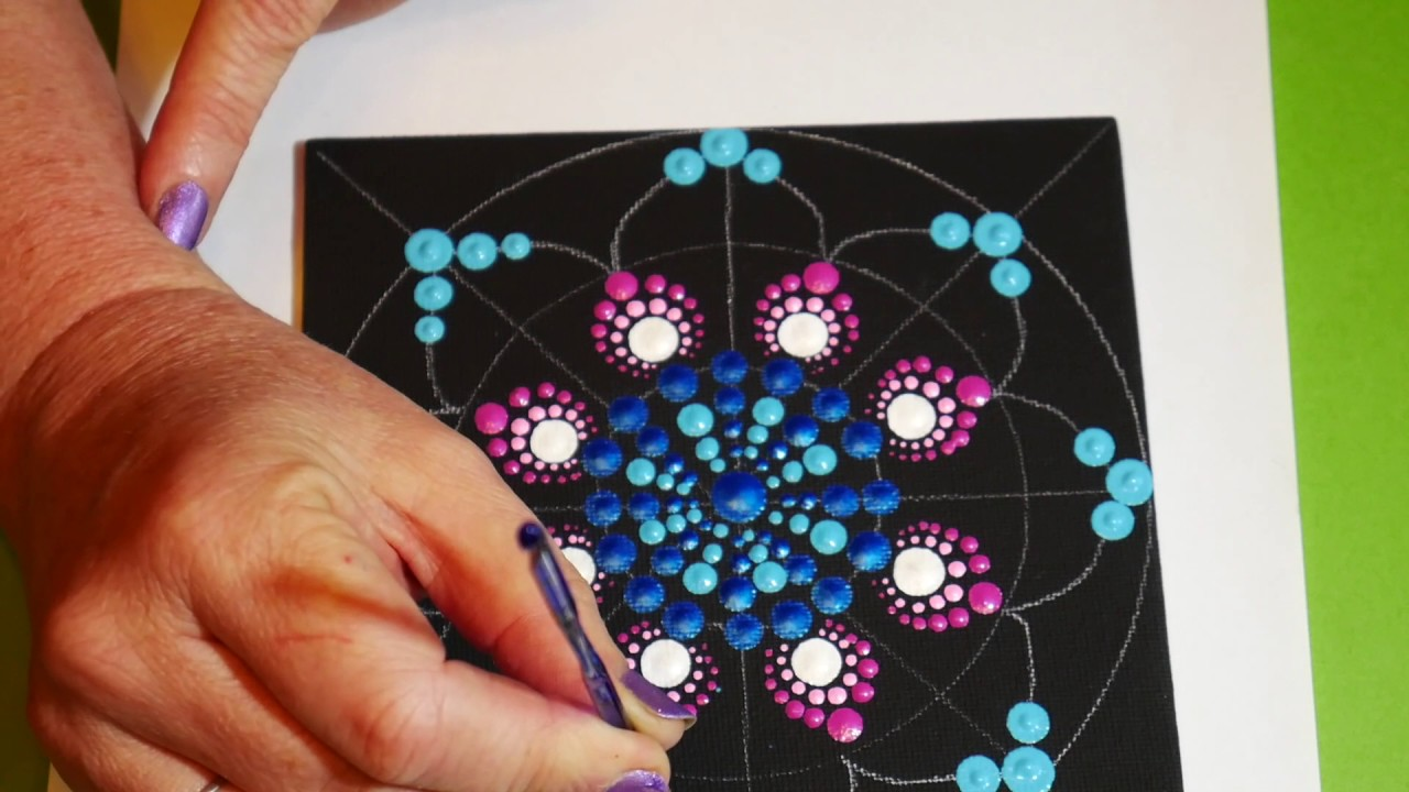 How To Paint Dot Mandalas With Kristin Uhrig 12 Stained Glass Design
