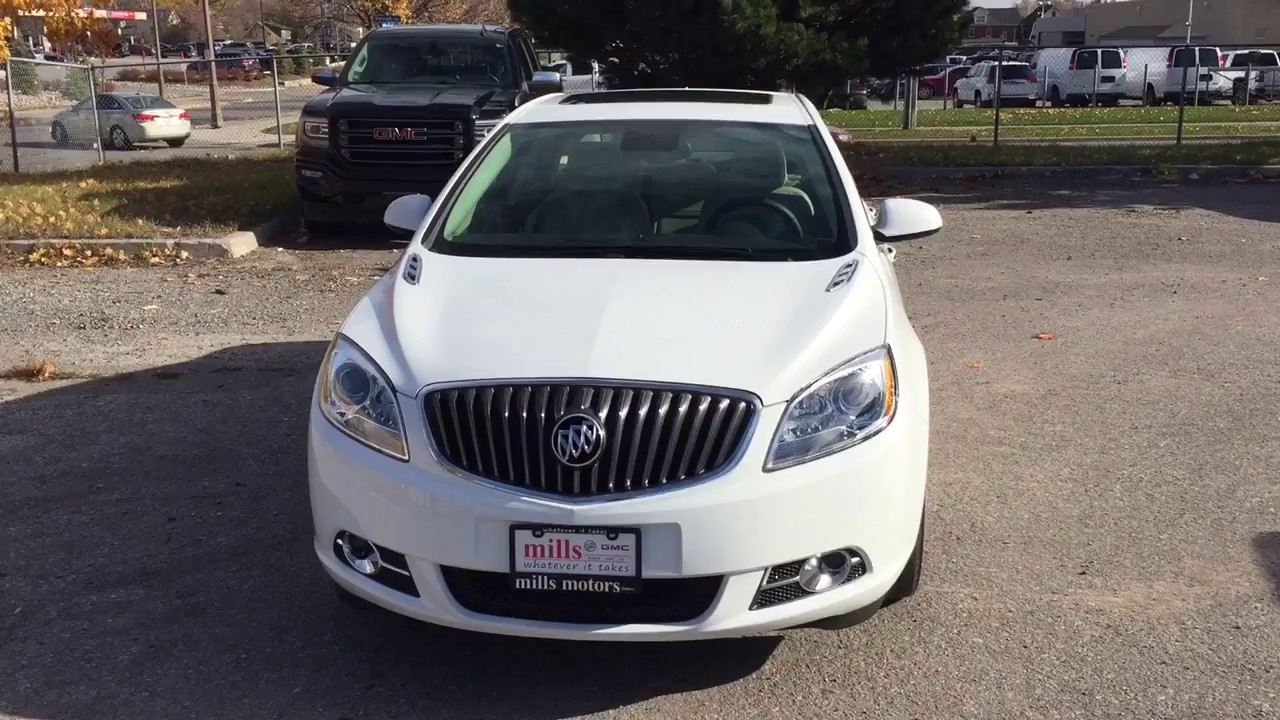 2017 Buick Verano Sedan Sunroof White Oshawa On Stock 170330 Youtube
