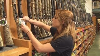 Repeat youtube video Go large! USA gun shops - watch and weep