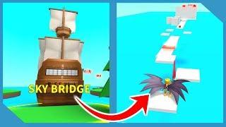 NEW SKY BRIDGE CHALLENGE IN ROBLOX EGG FARM SIMULATOR