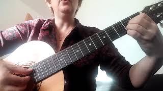 """Гитара для всех. Видеоурок. """"В лесу родилась ёлочка"""" 1 часть"""