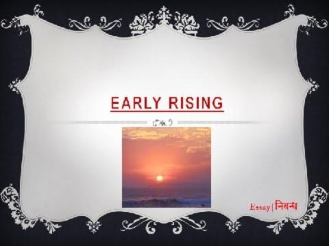 Early rising essay
