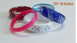 DIY crafts: BRACELETS recycling plastic bottles ||diy shivani
