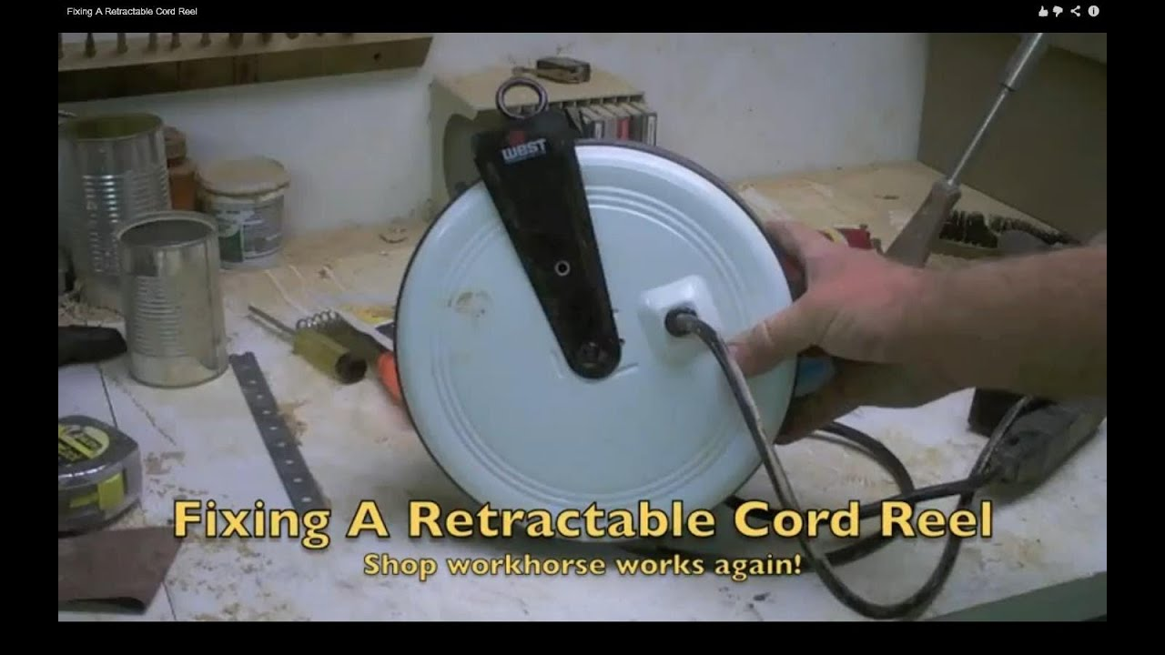 Fixing A Retractable Cord Reel - YouTube