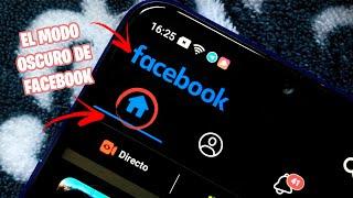 El modo OSCURO de Facebook Aparece por un INSTANTE!