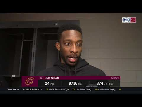 Jeff Green believes Cleveland fed off one another in 123-107 win l CAVALIERS-HAWKS POSTGAME