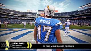 The chargers qb had trouble holding back his emotions in an interview.