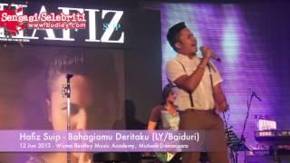 Hafiz Suip Nyanyi LIVE Lagu Bahagiamu Deritaku