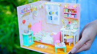 DIY Miniature, DIY Dollhouse Room, Best DIY Sweet Home, DIY Bedroom, 10 Minute DIY Doll Crafts #3