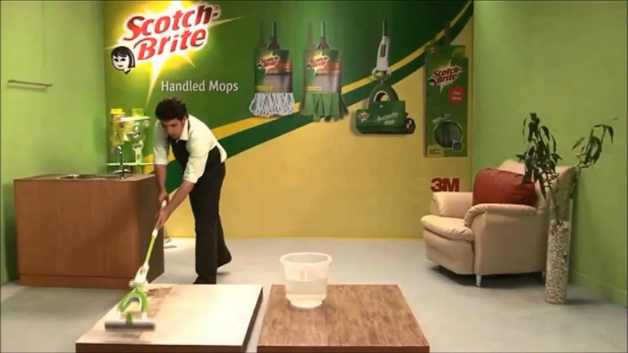 ScotchBrite Butterfly Mop Superior Butterfly Squeezing - Scotch brite microfiber hardwood floor mop