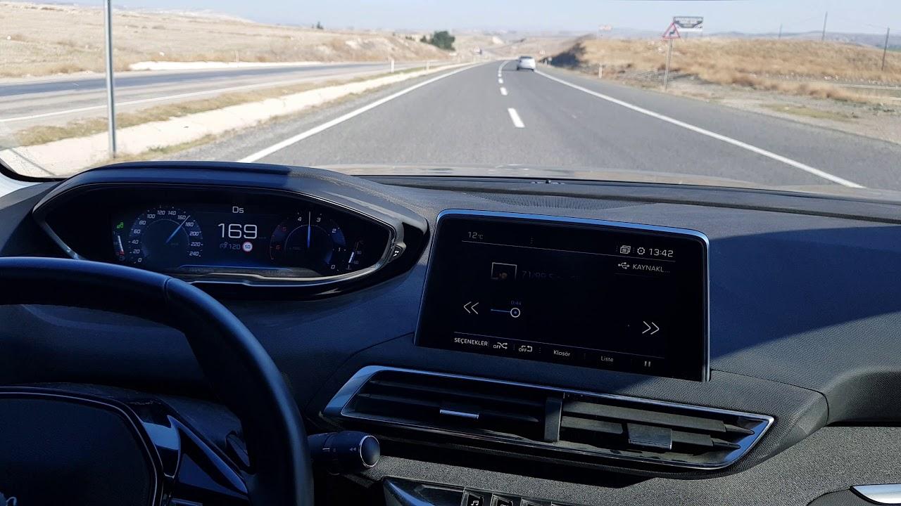 Peugeot 508 gt 1.6 225 beygir benzinli hız denemesi.
