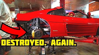 We DESTROYED the FERRARI'S ENGINE AGAIN!?? **I can't make this stuff up...** PT. 15