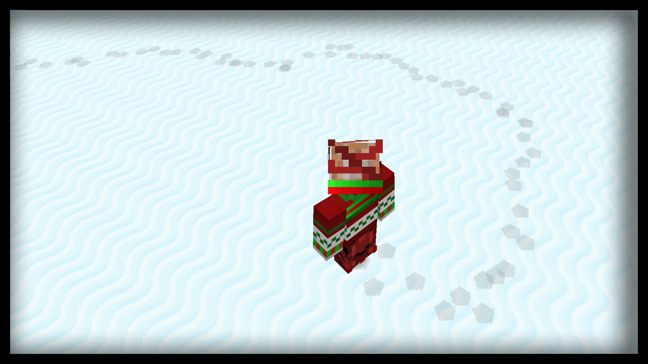 Minecraft: How to leave footprints on snow
