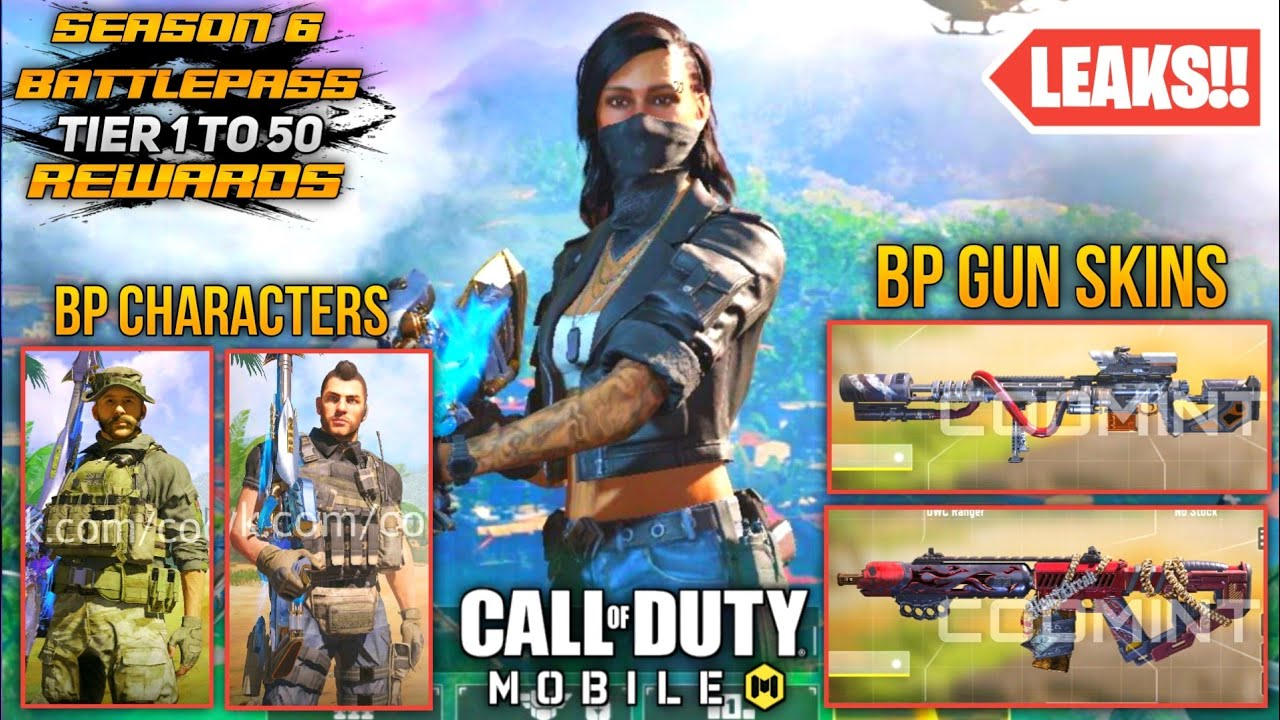 TIER 1 TO TIER 50 ALL BATTLEPASS MAJOR REWARDS DETAILED VIEW   MORE NEW LEAKS   CALL OF DUTY MOBILE