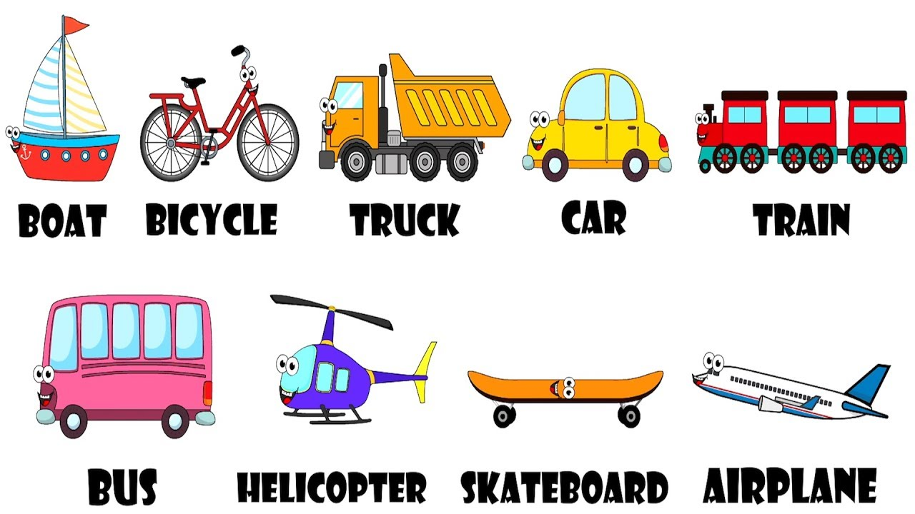 Vehicles Transportation Song For Kids Youtube