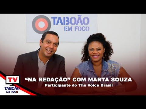 """""""Na Redação"""" com a cantora Marta Souza"""