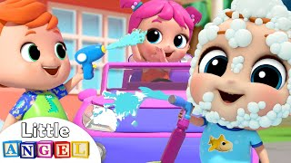 Car Wash Song with Baby John | Little Angel Kids Songs & Nursery Rhymes