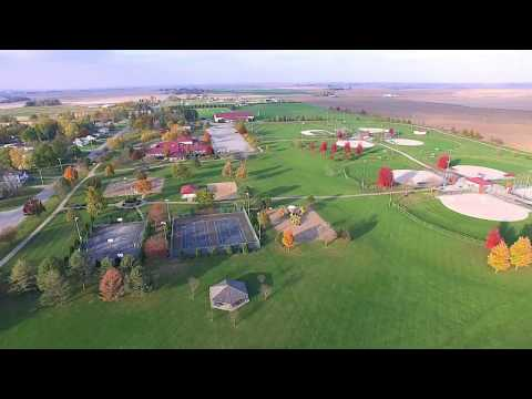 Epic aerial drone video of Grinnell, Iowa
