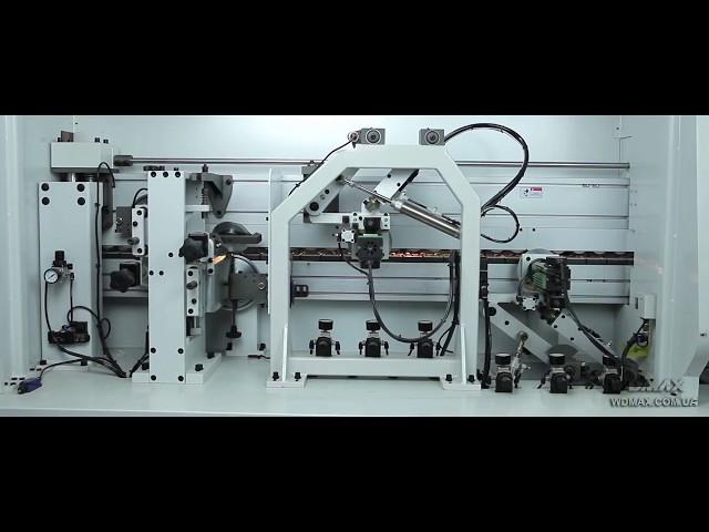 Кромкооблицовочный станок WDX-523J с прифуговкой и контурной фрезеровкой от WDMAX