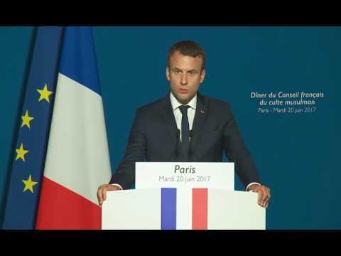 Emmanuel Macron au dîner du conseil français du culte musulman