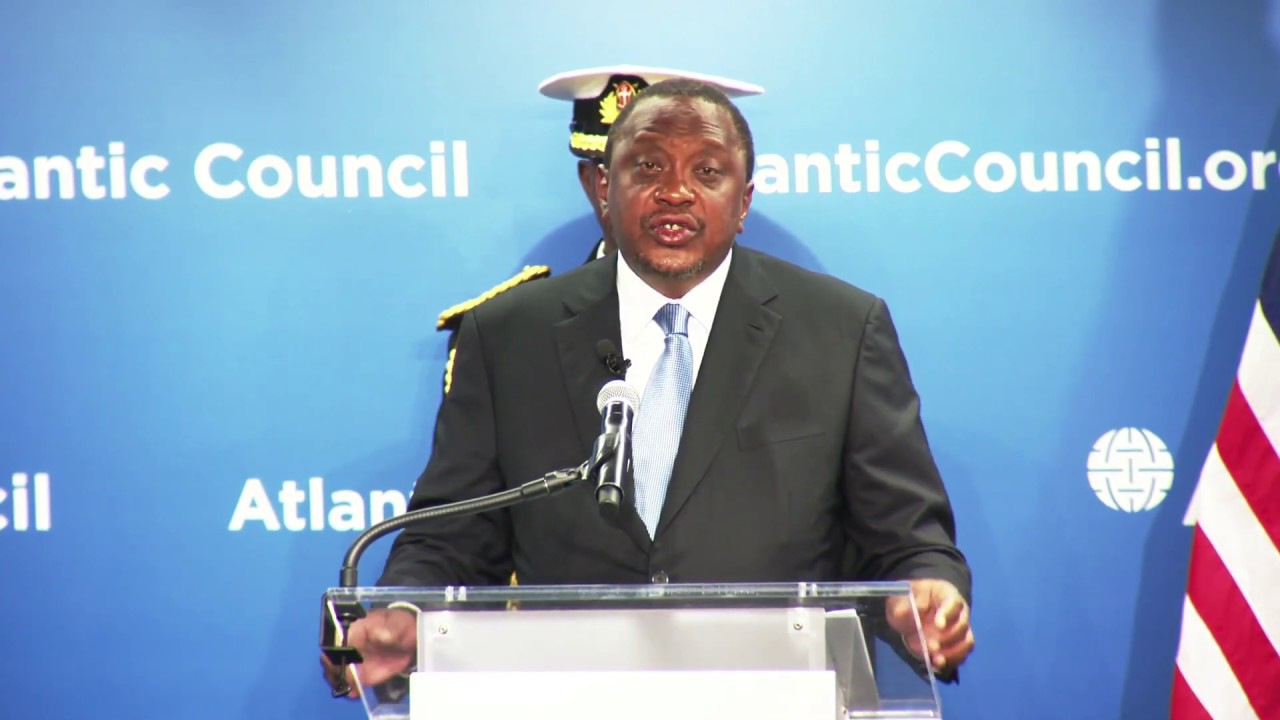 Image result for Uhuru in Us for Atlantic Council Forum