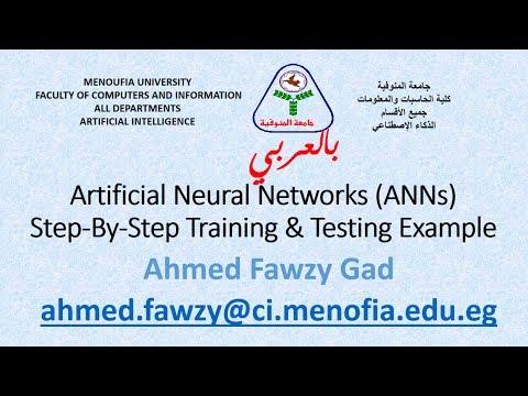 بالعربي Artificial Neural Networks (ANNs) Introduction + Step By Step Training Example