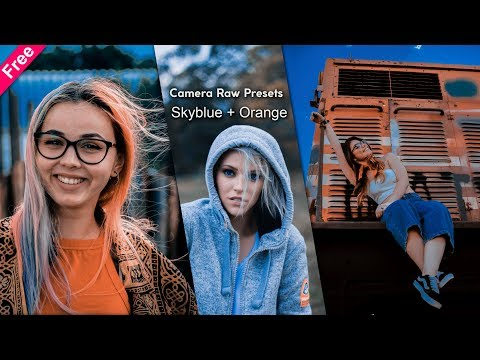 Download @fathguln Inspired Sky Blue + Orange Camera Raw Presets For Free