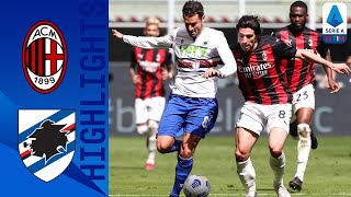 Milan 1-1 Sampdoria | Late Hauge Strike Sees Milan Come From Behind To Claim Draw! | Serie A TIM