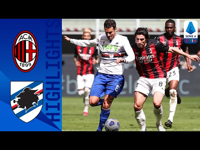 Milan y Sampdoria se repartieron los puntos en un 1 a 1