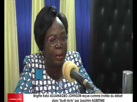 Brigitte Kafui ADJAMAGBO-JOHNSON reçue comme invitée du débat par Joachim AGBETIME