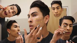 Doing My Makeup IN THE BOYS RESTROOM!! | Louie