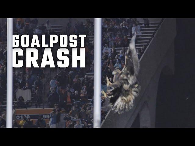 Auburn's eagle crashes into goal post during pregame flight