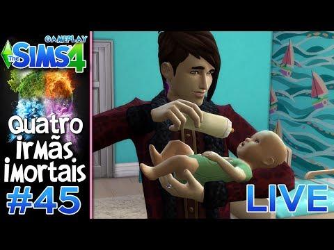 LIVE - PAPAI CALEB #45 - Desafio das 4 IRMÃS IMORTAIS VILÃS - The Sims 4