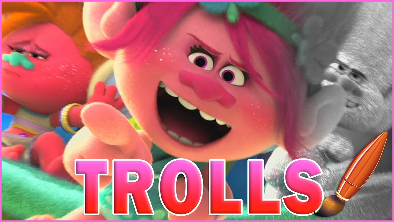Trolls Movie Poppy DJ Suki Coloring Book Pages Video for Kids ...