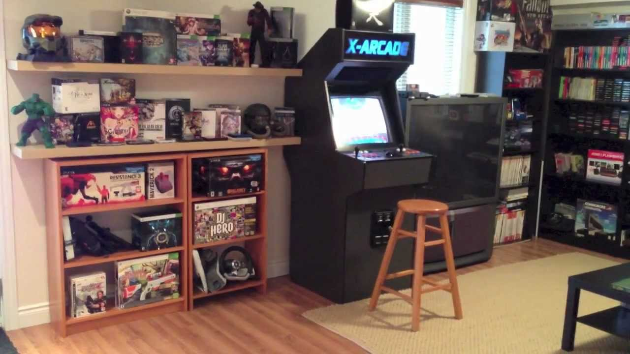 Epic Game Room Tour My Gaming Setup 2013 HD YouTube