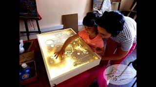 """Рисование песком для детей в студии """"Открытие"""""""