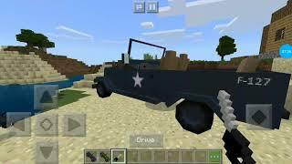 Мод на военные машины в minecraft PE
