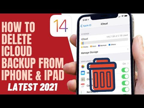 How I Delete ICloud Backup From ICloud Storage On  IPhone IPad \u0026 IPod ✔2021✔
