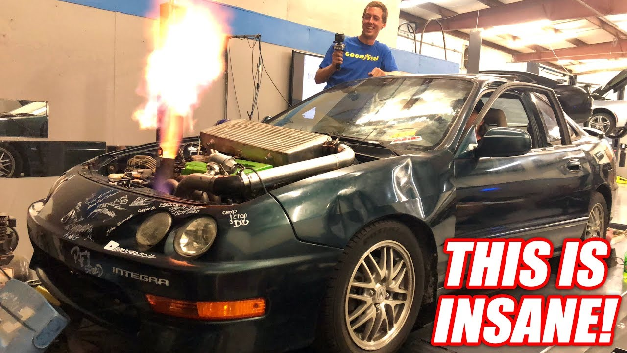Introducing The World's Fastest Demolition Drag Racing Car! (Boostedboiz Built)